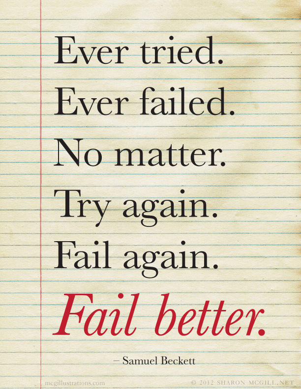 "its better to fail than to There is no use of education if cheated people should not be afraid of failing as failing is just a step away from success ""it is hard to fail, but it."